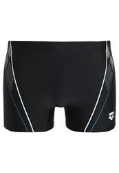 Arena Swimming Shorts Black Turquoise White