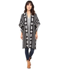 Rock And Roll Cowgirl Poncho 46 8458 Black Women's Clothing