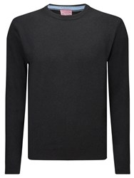 John Lewis Made In Italy Cashmere Crew Neck Jumper Black