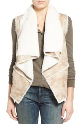 Coffee Shop Faux Shearling Vest Brown