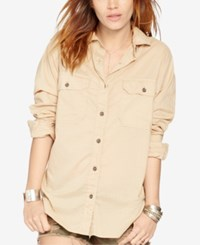 Denim And Supply Ralph Lauren Surplus Boyfriend Shirt Vintage Khaki