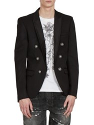 Balmain Long Sleeve Woolen Jacket Black
