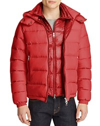 Moncler Brique Down Jacket Red