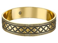 House Of Harlow Shakti Engraved Bangle Gold Bracelet