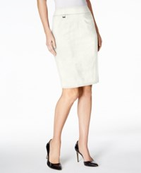 Calvin Klein Pencil Skirt Cream