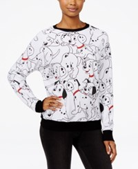 Mighty Fine Disney Juniors' 101 Dalmatians Printed Sweatshirt White Black