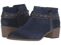 Clarks Breccan Shine Navy Suede Women's Pull On Boots Blue