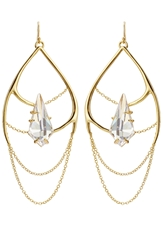 Alexis Bittar Kinetic Draping Gold Plated Chain Earrings