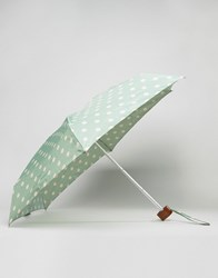 Cath Kidston Tiny Spot Print Umbrella In Green Spot Green