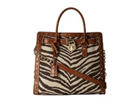 Michael Michael Kors Hamilton Pick Stitch Studded Large North South Tote Tiger Shoulder Handbags Multi