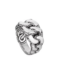 Men's Classic Chain Gourmette Silver Ring John Hardy Blue