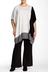 Love Token Oversized Colorblocked Tunic Plus Size Gray