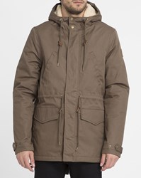 Element Sand Roghan Sherpa Lined Waxed Parka Beige