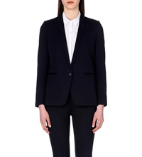 The Kooples Stretch Wool Blazer Dark Navy