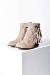 Sam Edelman Louie Fringe Ankle Boot Nude