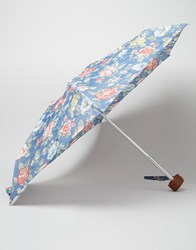Cath Kidston Tiny Umbrella In Rainbow Rose Print Blue
