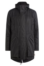 Hunter Fabric Parka With Hood Black