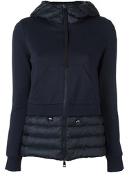 Moncler Padded Panel Hooded Jacket Blue