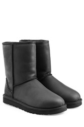 Ugg Australia Classic Short Leather Boots Black