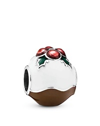 Pandora Design Pandora Charm Sterling Silver And Enamel Christmas Pudding Moments Collection Multi Silver