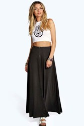 Boohoo 90'S Grunge Style Button Front Maxi Skirt Charcoal