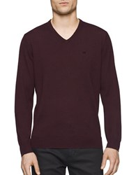 Calvin Klein Merino Wool Sweater Dark Chestnut