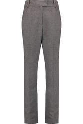 Maje Flannel Slim Leg Pants Gray