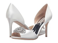 Badgley Mischka Dana White Satin Women's Dress Sandals