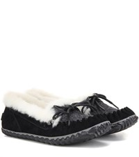 Sorel Out N Abouttm Suede Moccasins Black