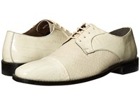 Stacy Adams Gatto Leather Sole Cap Toe Oxford Ivory Men's Lace Up Cap Toe Shoes White