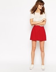 Ganni Mini Tulip Skirt Red