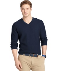 Izod Big And Tall V Neck Sweater Midnight