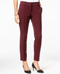 Bar Iii Cropped Skinny Ankle Pant Only At Macy's Deep Merlot