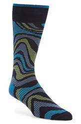Bugatchi Men's 'Alternating Wave' Socks