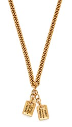 Wgaca Chanel Cambon Necklace Previously Owned Gold