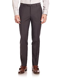 Pal Zileri Mohair Wool Dress Pants Brown