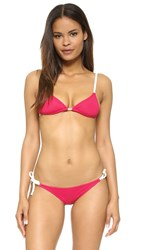 Solid And Striped Sophie Bikini Top Raspberry Cream