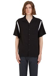 Lanvin Striped Knit Insert Shirt Black