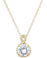 Giani Bernini Cubic Zirconia Infinity Pendant Necklace In 18K Gold Plated Sterling Silver Only At Macy's Yellow Gold