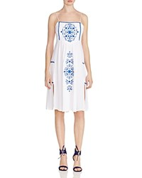 Little White Lies Embroidered Ophelia Dress White Blue