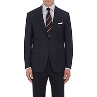 Canali Men's Plaid Wool Sportcoat Navy