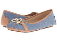 Michael Michael Kors Fulton Moccasin Washed Denim Vachetta Women's Slip On Shoes