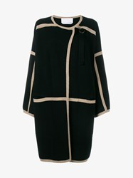Chloe Cashmere And Wool Coat Black Sand White