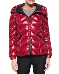 Moncler Badete Short Hooded Puffer Coat Red