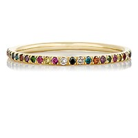 Ileana Makri Women's Mixed Gemstone Thread Band No Color