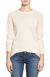 Ag Jeans Women's Ag 'Rylea' Cashmere And Silk Crewneck Sweater Blush Pearl