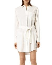 Allsaints Jules Shirt Dress Chalk White