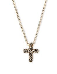 Judith Jack Marcasite Crystal And Goldplated Sterling Silver Cross Necklace