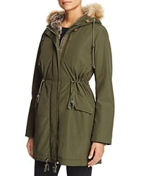 Levi's Faux Fur Trim Parka Army Green