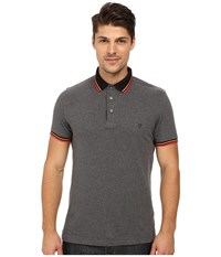 French Connection Cockney Tipping Knit Charcoal Melange Men's Clothing Gray